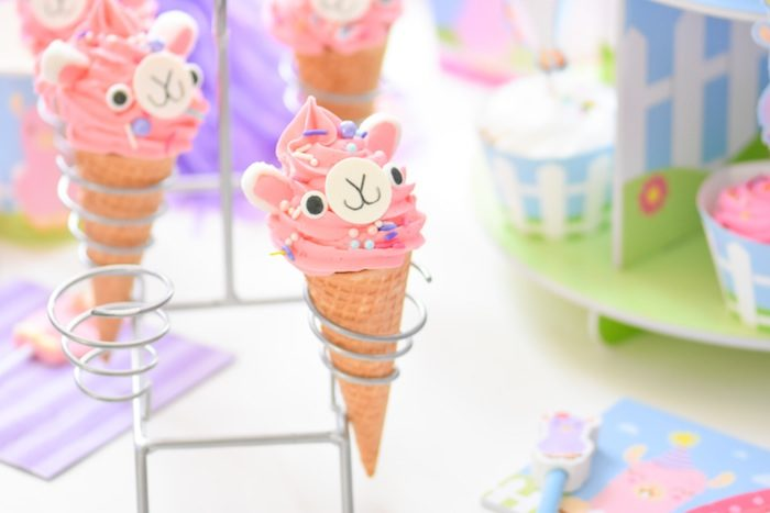 Party Cones from a Little Llama First Birthday Party via Kara's Party Ideas