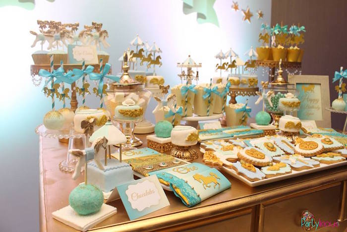 Sweet tablescape from a Magical Carousel Birthday Party on Kara's Party Ideas | KarasPartyIdeas.com (18)