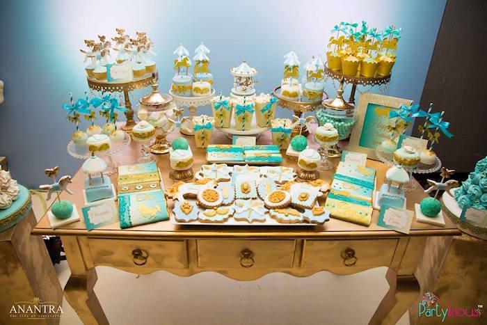 Dessert table from a Magical Carousel Birthday Party on Kara's Party Ideas | KarasPartyIdeas.com (17)