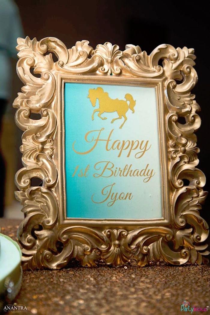 Happy Birthday Print from a Magical Carousel Birthday Party on Kara's Party Ideas | KarasPartyIdeas.com (13)