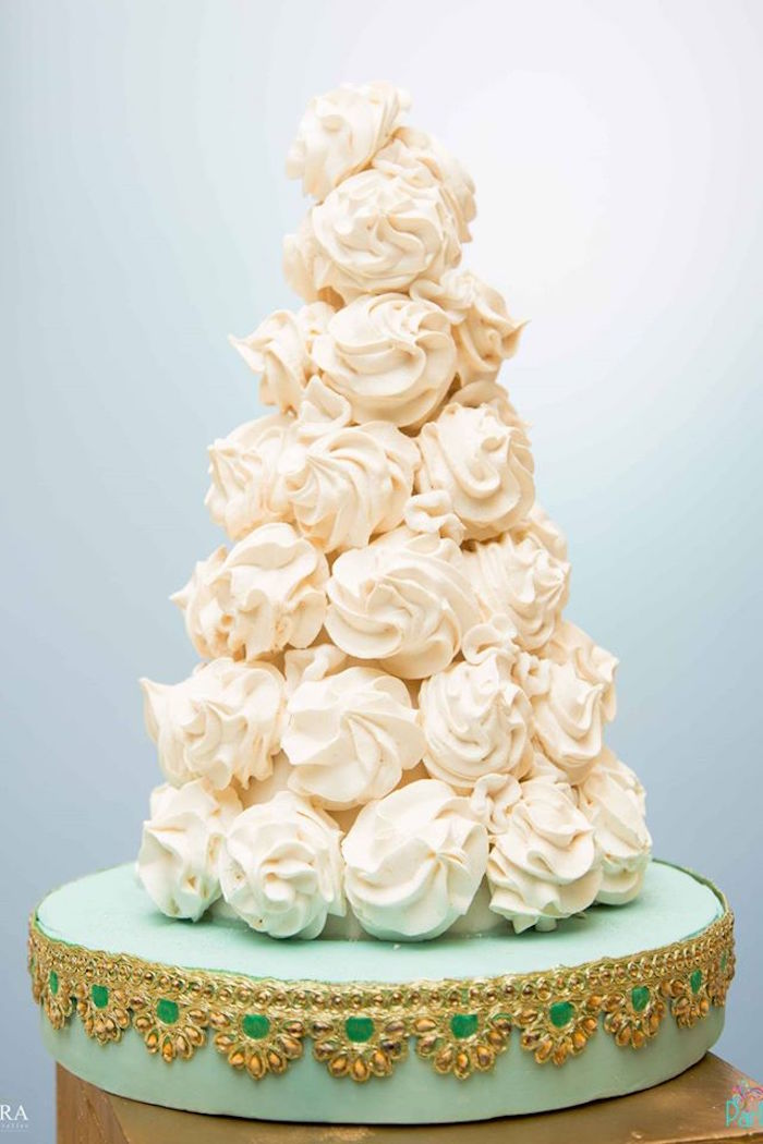 Meringue kiss tower from a Magical Carousel Birthday Party on Kara's Party Ideas | KarasPartyIdeas.com (11)