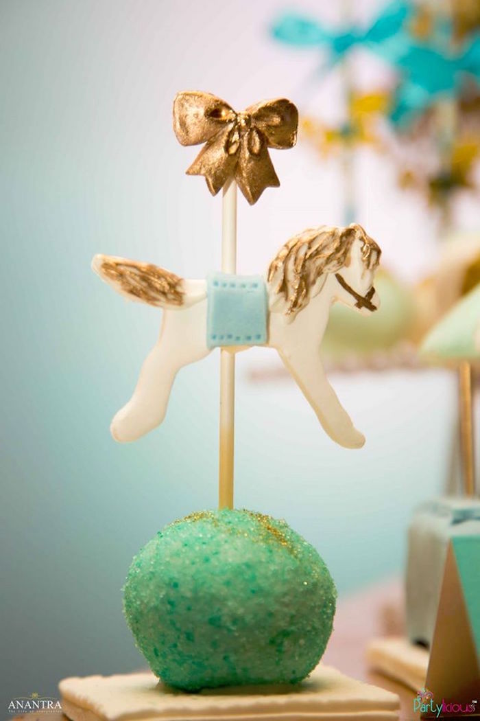 Carousel cake pop from a Magical Carousel Birthday Party on Kara's Party Ideas | KarasPartyIdeas.com (3)