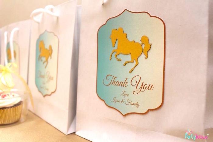 Favor bags from a Magical Carousel Birthday Party on Kara's Party Ideas | KarasPartyIdeas.com (21)