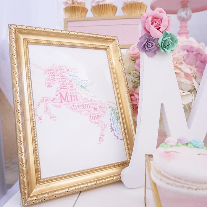 Word unicorn print from a Magical Unicorn Birthday Party on Kara's Party Ideas | KarasPartyIdeas.com (20)