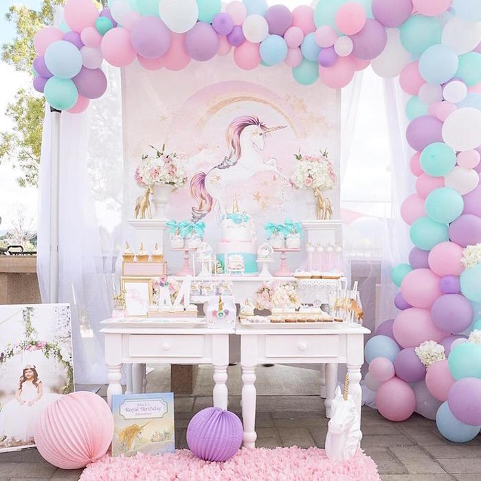 Kara 39 s party ideas magical unicorn birthday party kara 39 s party ideas Come home year decorations