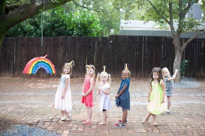 Little unicorns from a Magical Unicorn and Rainbow Birthday Party on Kara's Party Ideas   KarasPartyIdeas.com (25)