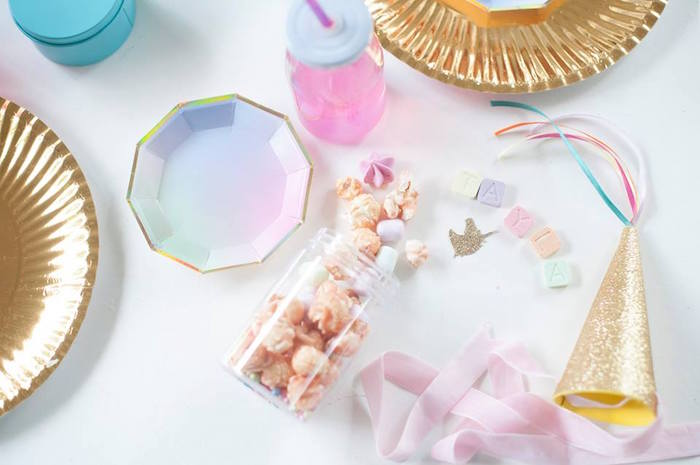 Favors + partyware from a Magical Unicorn and Rainbow Birthday Party on Kara's Party Ideas | KarasPartyIdeas.com (15)