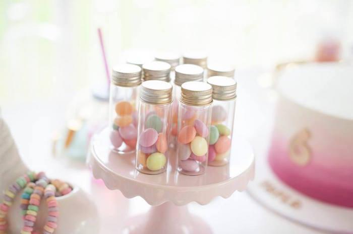Favor jars from a Magical Unicorn and Rainbow Birthday Party on Kara's Party Ideas   KarasPartyIdeas.com (14)
