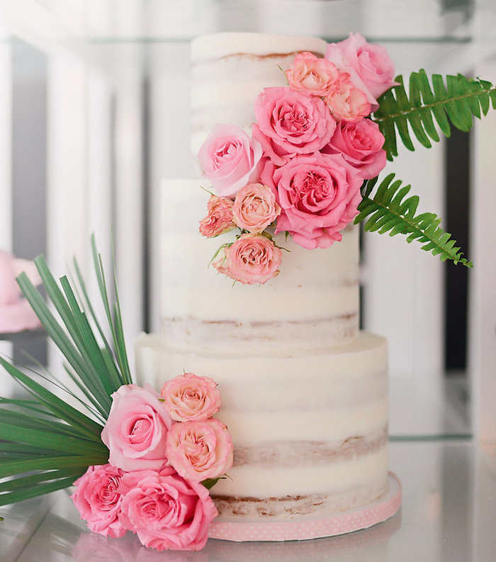 Gorgeous cake from a Modern Flamingo Birthday Party on Kara's Party Ideas | KarasPartyIdeas.com (26)