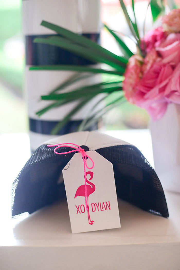 Flamingo favor tag from a Modern Flamingo Birthday Party on Kara's Party Ideas | KarasPartyIdeas.com (8)