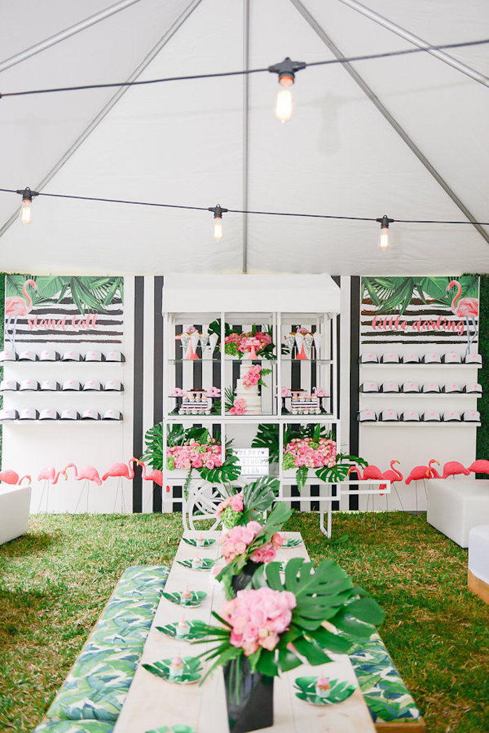 Modern Flamingo Birthday Party on Kara's Party Ideas | KarasPartyIdeas.com (34)