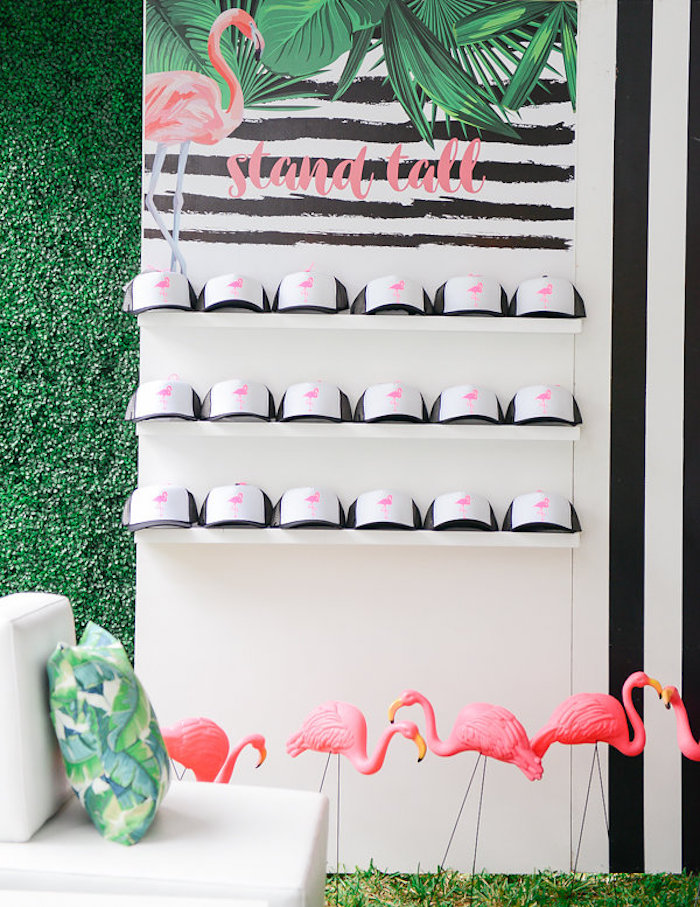 Favor table + setup from a Modern Flamingo Birthday Party on Kara's Party Ideas | KarasPartyIdeas.com (33)