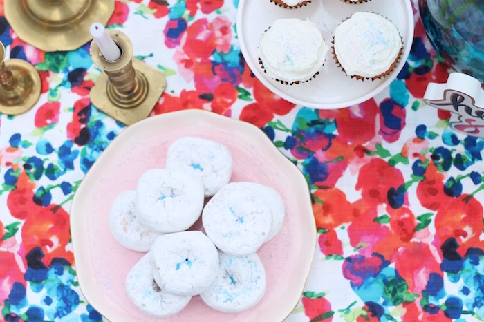 Doughnuts and cupcakes from a Mother's Day Ladies Lunch on Kara's Party Ideas | KarasPartyIdeas.com (12)