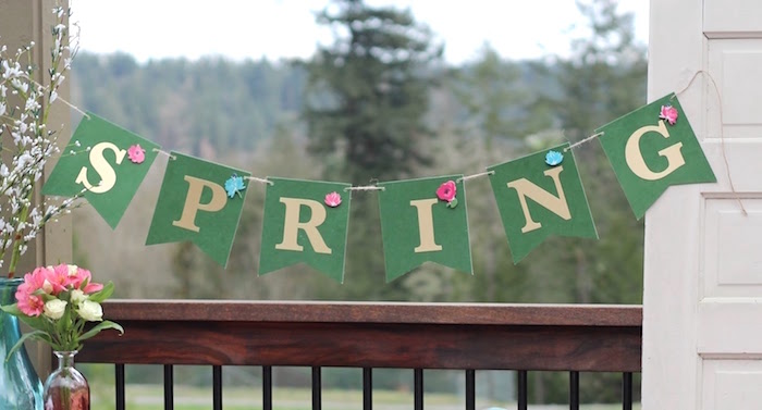 Spring banner from a Mother's Day Ladies Lunch on Kara's Party Ideas | KarasPartyIdeas.com (9)