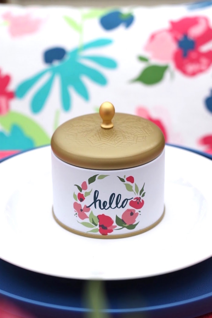 Tin candle favor from a Mother's Day Ladies Lunch on Kara's Party Ideas | KarasPartyIdeas.com (6)
