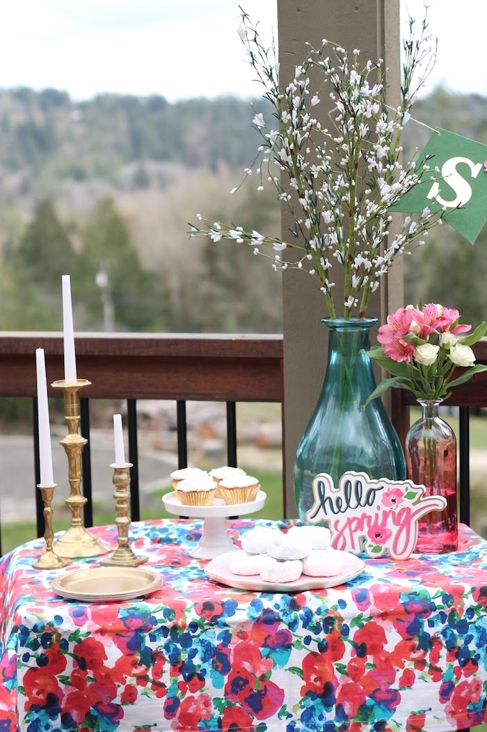 Spring sweet table from a Mother's Day Ladies Lunch on Kara's Party Ideas | KarasPartyIdeas.com (23)