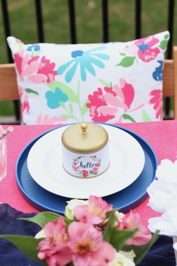 Place setting from a Mother's Day Ladies Lunch on Kara's Party Ideas | KarasPartyIdeas.com (17)