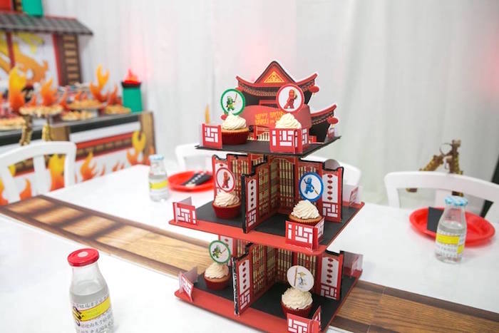 Cupcake hut from a Ninjago Lego Ninja Birthday Party on Kara's Party Ideas | KarasPartyIdeas.com (15)