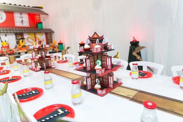 Guest table from a Ninjago Lego Ninja Birthday Party on Kara's Party Ideas | KarasPartyIdeas.com (13)