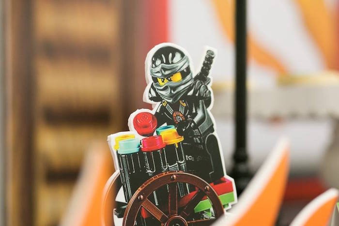 Centerpiece from a Ninjago Lego Ninja Birthday Party on Kara's Party Ideas | KarasPartyIdeas.com (9)