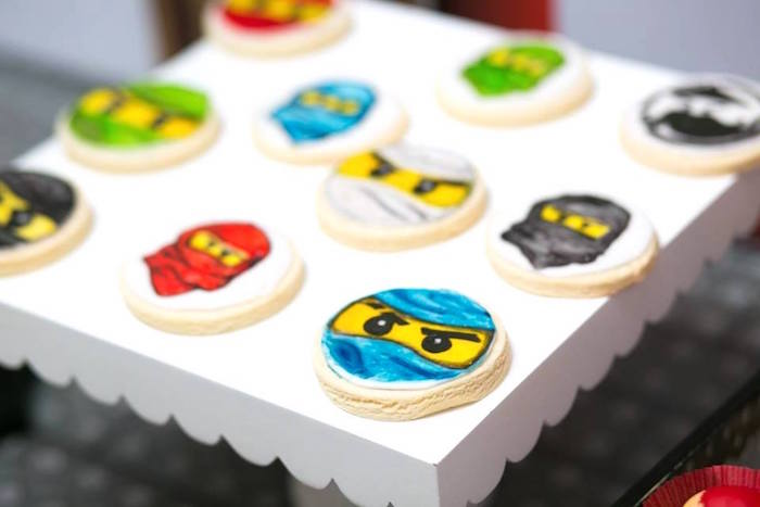 Ninjango Ninja Cookies from a Ninjago Lego Ninja Birthday Party on Kara's Party Ideas | KarasPartyIdeas.com (22)
