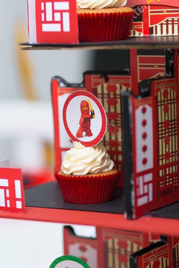 Cupcake from a Ninjago Lego Ninja Birthday Party on Kara's Party Ideas | KarasPartyIdeas.com (21)