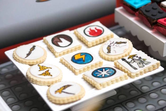 Cookies from a Ninjago Lego Ninja Birthday Party on Kara's Party Ideas | KarasPartyIdeas.com (19)