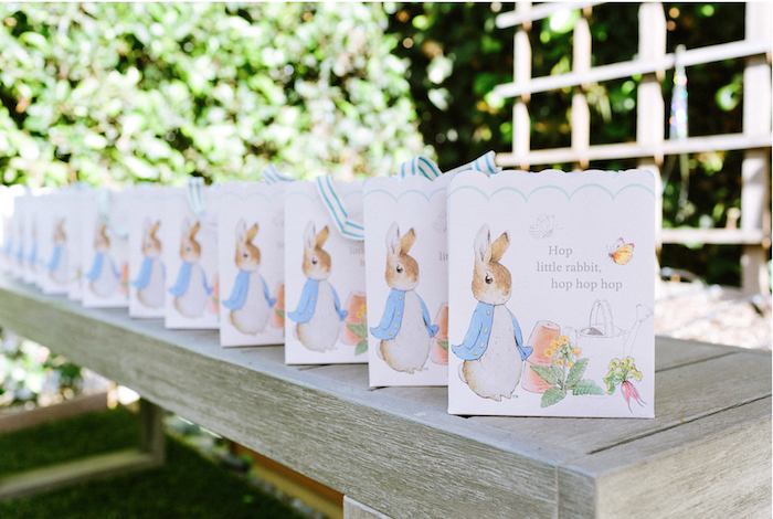 Peter Rabbit gift bags from a Peter Rabbit Easter Party on Kara's Party Ideas | KarasPartyIdeas.com (8)