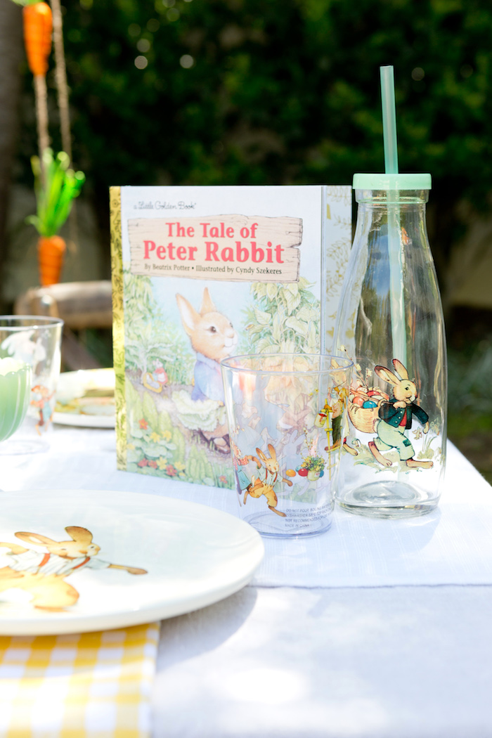 Peter Rabbit drink bottle + cup from a Peter Rabbit Easter Party on Kara's Party Ideas | KarasPartyIdeas.com (14)