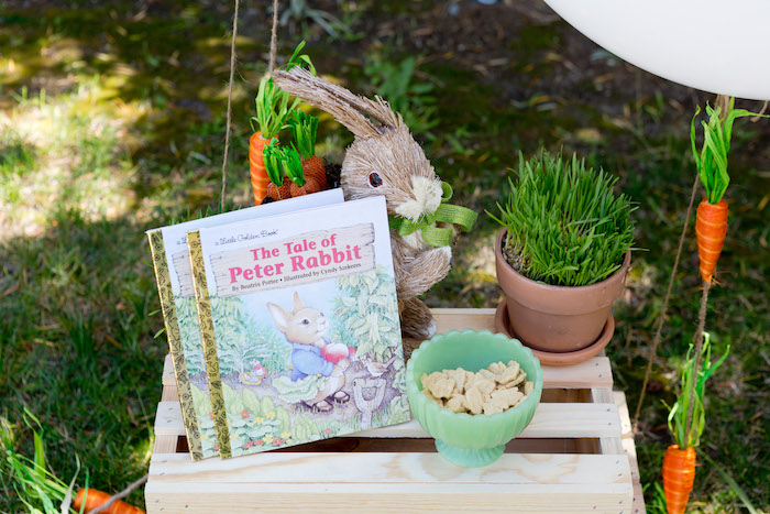 Decorations from a Peter Rabbit Easter Party on Kara's Party Ideas | KarasPartyIdeas.com (11)