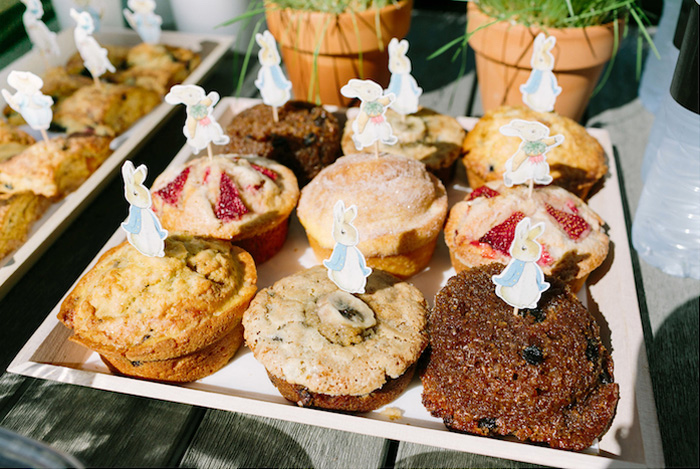 Peter Rabbit Muffins from a Peter Rabbit Easter Party on Kara's Party Ideas | KarasPartyIdeas.com (10)