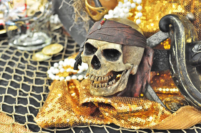 Skull from a Pirates of the Caribbean Birthday Party on Kara's Party Ideas | KarasPartyIdeas.com (33)