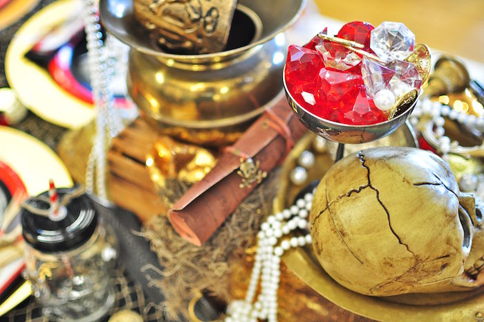 Jewels from a Pirates of the Caribbean Birthday Party on Kara's Party Ideas   KarasPartyIdeas.com (32)