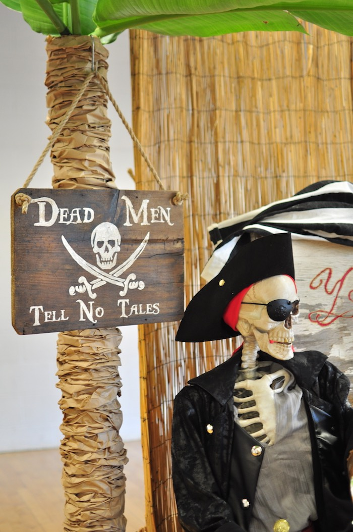 Party signage + decor from a Pirates of the Caribbean Birthday Party on Kara's Party Ideas | KarasPartyIdeas.com (31)