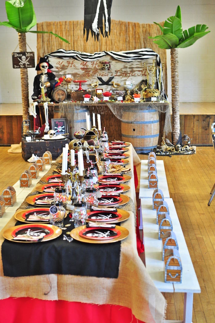 Pirate birthday party table