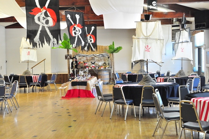 Pirate partyscape from a Pirates of the Caribbean Birthday Party on Kara's Party Ideas | KarasPartyIdeas.com (26)