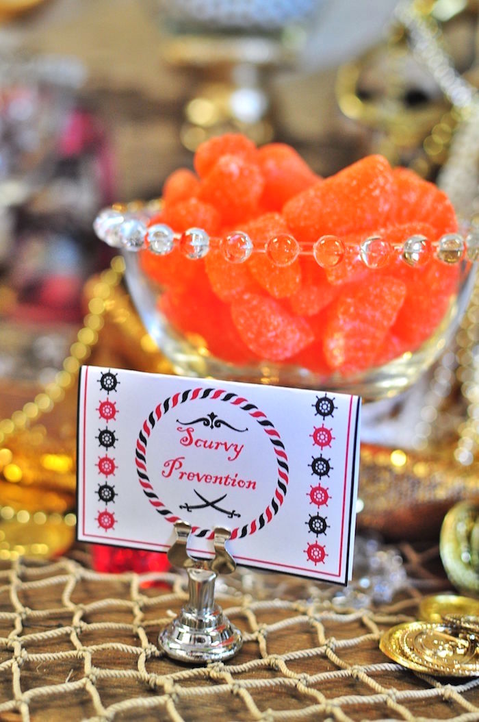Scurvy Prevention candy from a Pirates of the Caribbean Birthday Party on Kara's Party Ideas | KarasPartyIdeas.com (23)