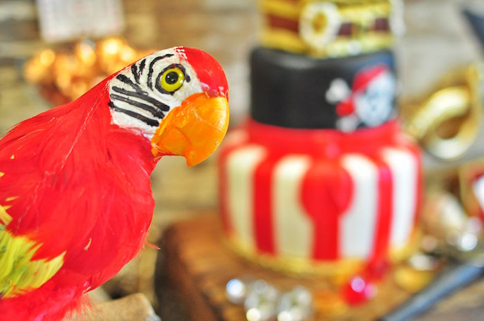 Parrot from a Pirates of the Caribbean Birthday Party on Kara's Party Ideas | KarasPartyIdeas.com (18)