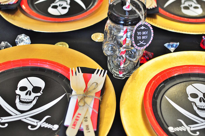 Pirate skull drink cup from a Pirates of the Caribbean Birthday Party on Kara's Party Ideas | KarasPartyIdeas.com (45)