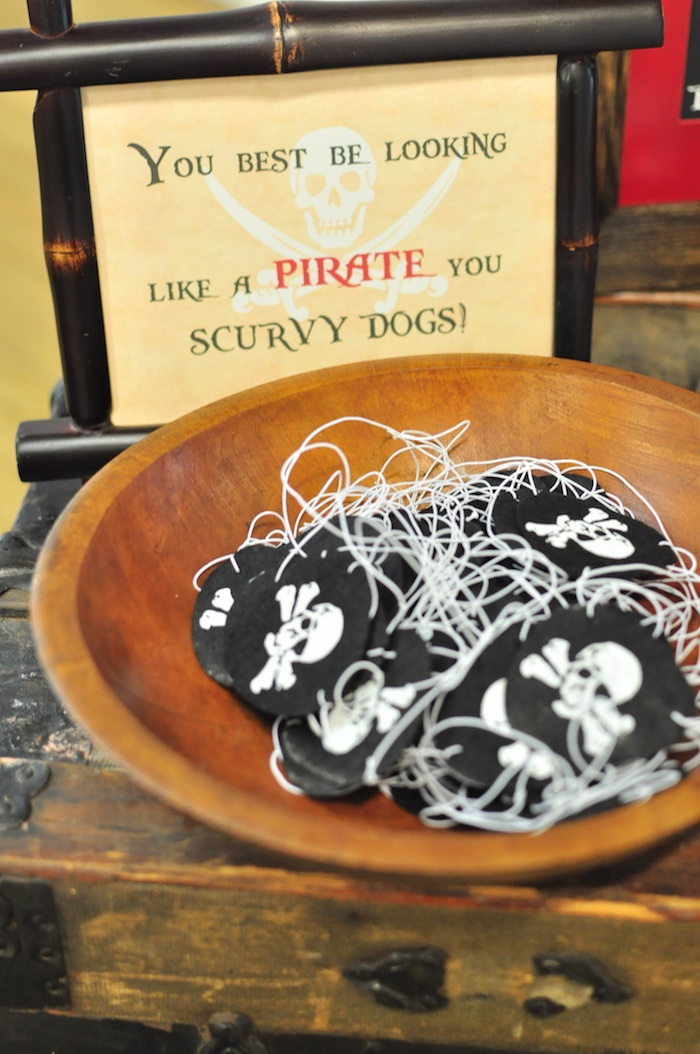 Pirate patches from a Pirates of the Caribbean Birthday Party on Kara's Party Ideas | KarasPartyIdeas.com (14)