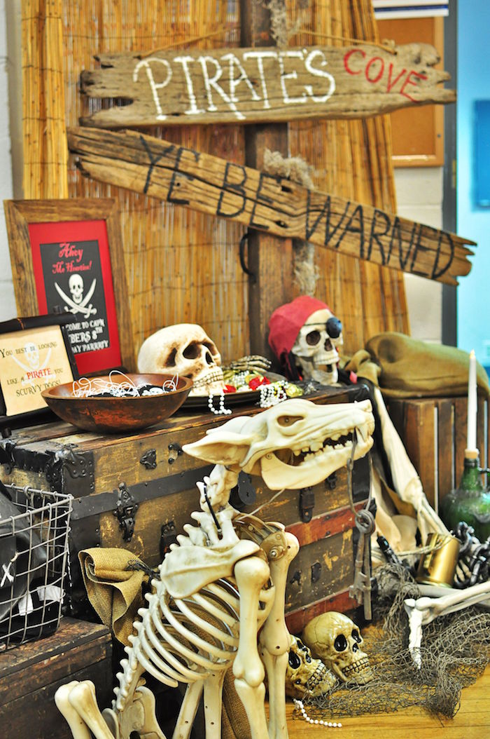 Skeletons from a Pirates of the Caribbean Birthday Party on Kara's Party Ideas | KarasPartyIdeas.com (12)