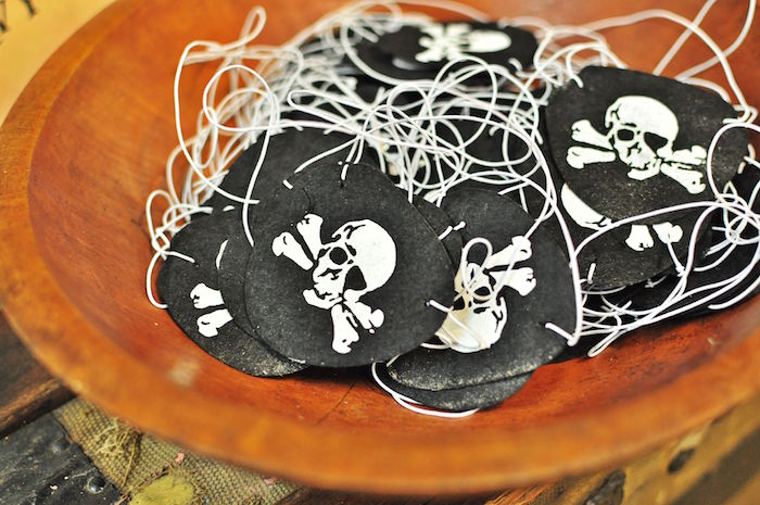 Pirate eye patches from a Pirates of the Caribbean Birthday Party on Kara's Party Ideas | KarasPartyIdeas.com (10)