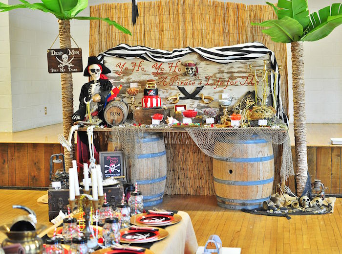Dessert table from a Pirates of the Caribbean Birthday Party on Kara's Party Ideas | KarasPartyIdeas.com (39)