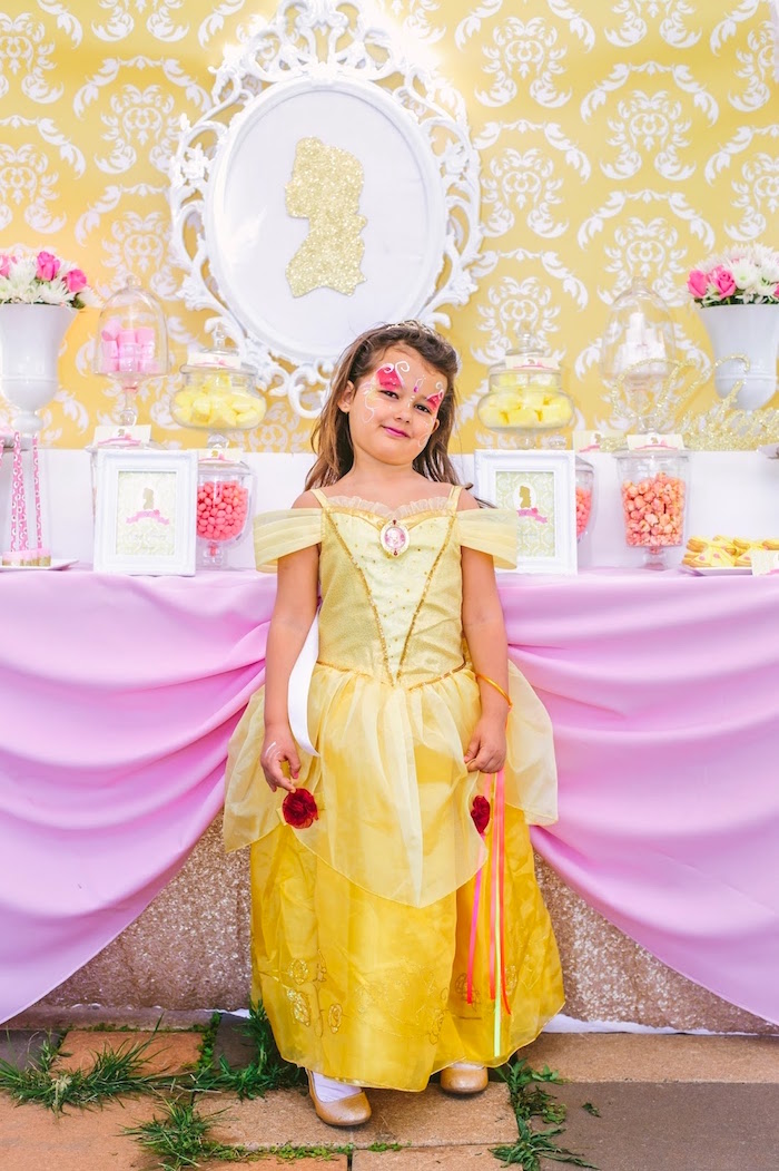 Dessert table from a Princess Belle Beauty and the Beast Birthday Party on Kara's Party Ideas | KarasPartyIdeas.com (21)