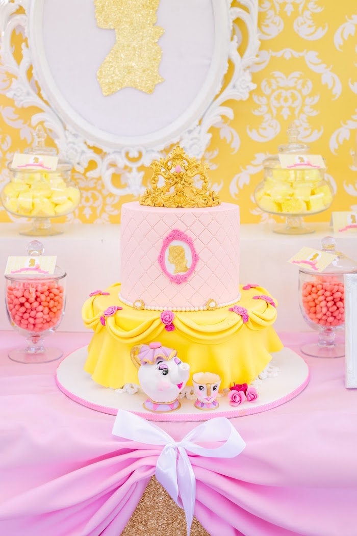 Princess Belle Decorations Endearing Kara's Party Ideas » Princess Belle Beauty And The Beast Birthday Design Inspiration