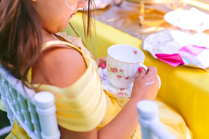 Tea cup and saucer from a Princess Belle Beauty and the Beast Birthday Party on Kara's Party Ideas | KarasPartyIdeas.com (13)