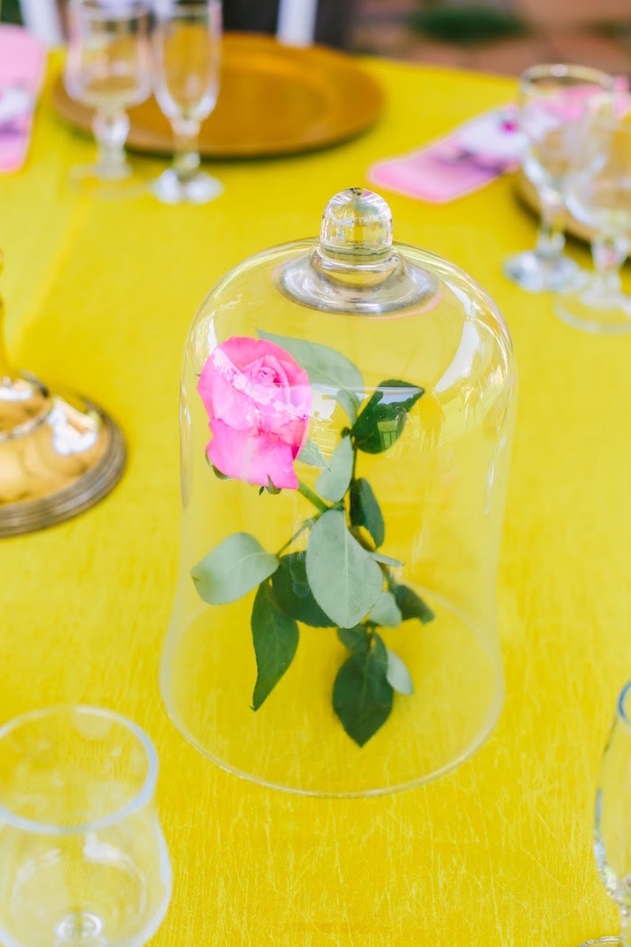 Enchanted rose from a Princess Belle Beauty and the Beast Birthday Party on Kara's Party Ideas | KarasPartyIdeas.com (12)