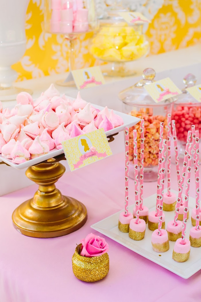 Sweets from a Princess Belle Beauty and the Beast Birthday Party on Kara's Party Ideas | KarasPartyIdeas.com (5)