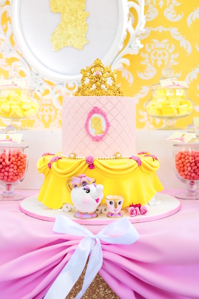 Kara's Party Ideas Princess Belle Beauty and the Beast Birthday Amazing Belle Birthday Decorations