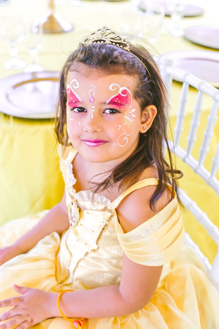 Princess Belle from a Princess Belle Beauty and the Beast Birthday Party on Kara's Party Ideas | KarasPartyIdeas.com (3)